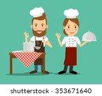 culinary chefs. cook class... | Shutterstock .eps vector #353671640