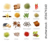 icons set with titles of...   Shutterstock .eps vector #353674160