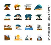 world worst natural disasters... | Shutterstock .eps vector #353675954