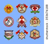 fire dept quality labels... | Shutterstock .eps vector #353676188