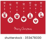 merry christmas greeting card.... | Shutterstock .eps vector #353678330