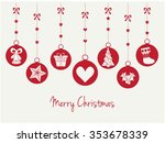 merry christmas greeting card.... | Shutterstock .eps vector #353678339