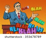 politician speaking at the... | Shutterstock .eps vector #353678789