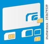 3d blank sim card. vector... | Shutterstock .eps vector #353679539