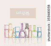 nail polish  nail lacquer ...   Shutterstock .eps vector #353680058