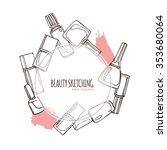 nail polish  nail lacquer ... | Shutterstock .eps vector #353680064