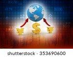 global currencies | Shutterstock . vector #353690600