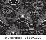 food and drink vector seamless... | Shutterstock .eps vector #353691320