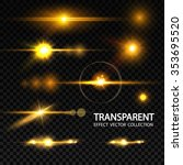 realistic lens flare elements... | Shutterstock .eps vector #353695520
