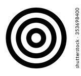 dartboard bold line vector... | Shutterstock .eps vector #353698400