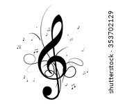 clef music notes | Shutterstock .eps vector #353702129