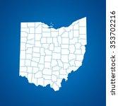 map of ohio   Shutterstock .eps vector #353702216