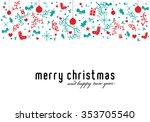 merry christmas. christmas... | Shutterstock .eps vector #353705540