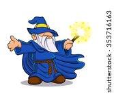 Blue Wizard Cartoon