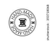 hand drawn retro vector hand... | Shutterstock .eps vector #353718068