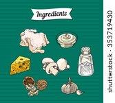 food ingredients item... | Shutterstock .eps vector #353719430