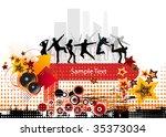 music background | Shutterstock .eps vector #35373034