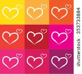 vector hearts set | Shutterstock .eps vector #353733884