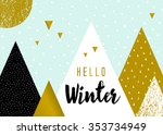 abstract geometric composition...   Shutterstock .eps vector #353734949