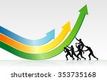 bending economic growth... | Shutterstock .eps vector #353735168
