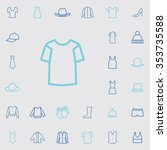 clothes outline  thin  flat ... | Shutterstock .eps vector #353735588