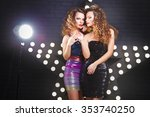 portrait of beautiful twins... | Shutterstock . vector #353740250