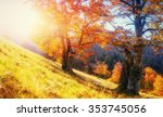 mountain range in the... | Shutterstock . vector #353745056
