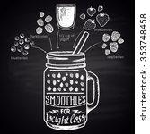 chalk drawn illustration of ... | Shutterstock .eps vector #353748458
