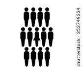 people icon vector illustration ... | Shutterstock .eps vector #353749334