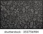 chalkboard vector hand drawn... | Shutterstock .eps vector #353756984