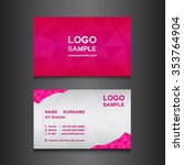 pink  name card design template ... | Shutterstock .eps vector #353764904