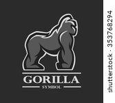 gorilla symbol  logo  labels ...   Shutterstock .eps vector #353768294