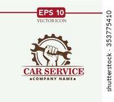 car service vector icon. | Shutterstock .eps vector #353775410