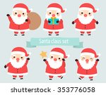 set of cute santa claus in many ... | Shutterstock .eps vector #353776058