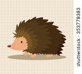 animal hedgehog cartoon theme... | Shutterstock .eps vector #353778383