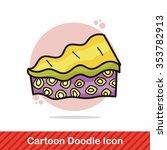 cake doodle | Shutterstock .eps vector #353782913