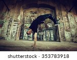 bboy doing handstand on street | Shutterstock . vector #353783918