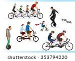 ride a bike part 2. go green. | Shutterstock .eps vector #353794220