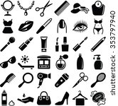 beauty icons collection  ... | Shutterstock .eps vector #353797940