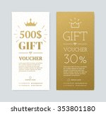 gift voucher for shopping in... | Shutterstock .eps vector #353801180