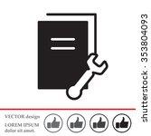 vector document settings icon