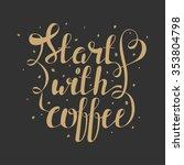 hand draw lettering vector... | Shutterstock .eps vector #353804798