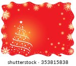 christmas background with... | Shutterstock .eps vector #353815838