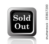 sold out icon. internet button... | Shutterstock . vector #353817200