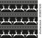 seamless pattern with deer.... | Shutterstock .eps vector #353837630