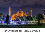 evening view of the hagia... | Shutterstock . vector #353839016