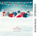 holiday christmas background... | Shutterstock .eps vector #353840624