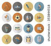 school and education icon set....   Shutterstock . vector #353844518