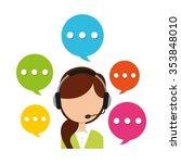 customer service design  vector ... | Shutterstock .eps vector #353848010