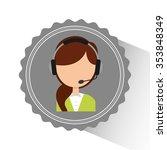 customer service design  vector ...   Shutterstock .eps vector #353848349
